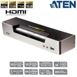 KVM de 4 Puertos USB HDMI con Audio y Hub USB 2.0 Aten CS1794