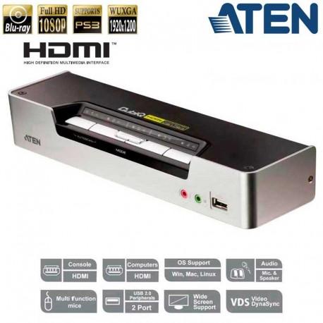 Aten CS1794 - KVM de 4 Puertos USB HDMI con Audio y Hub USB 2.0