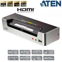 KVM de 2 Puertos USB HDMI con Audio y Hub USB 2.0 Aten CS1792