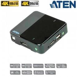 KVM de 2 Puertos USB DisplayPort 4K Aten CS782DP