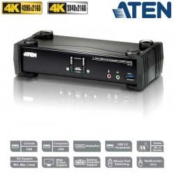 KVM de 2 Puertos USB 3.0 DisplayPort 1.2, 4K con Audio Aten CS1922
