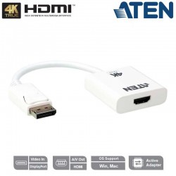 Aten VC986B - Conversor Activo DisplayPort 1.2a a HDMI 4K Real | Marlex Conexion