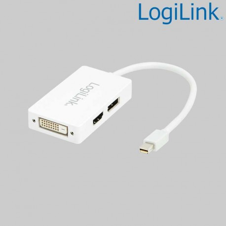 Logilink CV0045A - Cable Adapt Mini DisplayPort 1.2 Macho a HDMI-DVI-DP Hembra