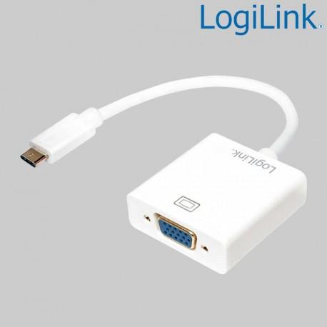 Logilink UA0237A - Conversor USB 3.1 Tipo C a VGA   Marlex Conexion