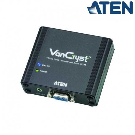 Aten VC180 - Conversor VGA a HDMI con Audio   Marlex Conexion