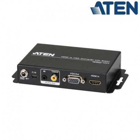 Aten VC812 - Conversor HDMI a VGA y Audio con Escalador | Marlex