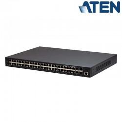 Switch Gigabit Gestionable Layer 2 (48 Puertos Gigabit y 4 Puertos de uplink 10G SFP) ATEN ES0152
