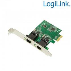 Logilink PC0075 - Tarjeta PCI Express 2 puertos Gigabit 10/100/1000Mbs
