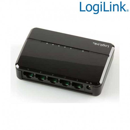 Logilink NS0103 - Mini Switch Ethernet de 5 puertos 10/100 Sobremesa Negro