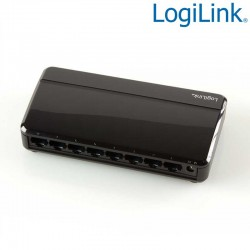 Switch Gigabit 8 puertos 10/100/1000 Sobremesa Negro Logilink NS0106