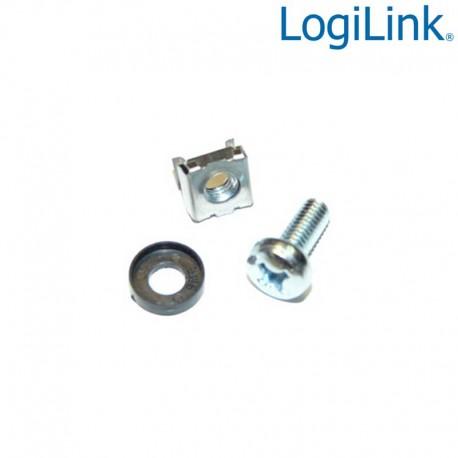 Logilink AC0111 - Kit de 20 Tornillos, Tuercas, Arandelas (M6)   Marlex Conexion