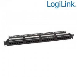 "Logilink NP0004A - Patch Panel 19"" Cat.6 UTP 24p""strain relief"" Negro | Marlex Conexion"