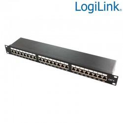 "Logilink NP0048 - Patch Panel 19"" Cat. 6 STP 24 puertos, Negro | Marlex Conexion"