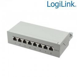 Logilink NP0016A - Patch Panel Sobremesa Cat. 6 FTP 8 puertos, Beige | Marlex Conexion