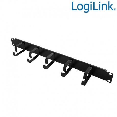 Logilink OR101B - Panel Pasacables 19'',5 Anillas, Metálico,1U,Negro   Marlex Conexion