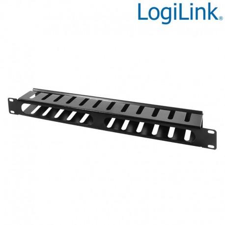 """Logilink ORCC01B - Panel Pasacables 19"""" 1U con tapa,Negro   Marlex Conexion"""