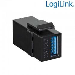 Acoplador Keystone en linea USB3.0. A-A Hembra Logilink NK0015B