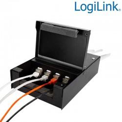 Caja conexión para 4 conectores keystone Logilink NP0090