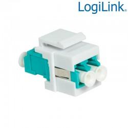 Acoplador Keystone en linea LC Duplex Multimodo Hembra-Hembra Logilink NK0031