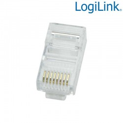 Logilink MP0002 - Conector RJ45 Macho UTP Cat5e (100 pcs) | Marlex Conexion