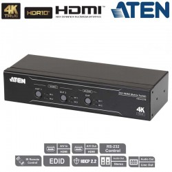 Aten VM0202HB - Conmutador Matricial HDMI 4K Real, 2x2 con desincrustador de audio