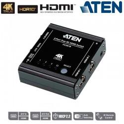 Conmutador HDMI 4K real de 3 puertos Aten VS381B