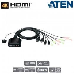Aten CS22H - KVM de 2 Puertos USB HDMI 4K | Marlex Conexion