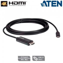 2,7m Cable Conversor USB-C a HDMI 4K (3840 x 2160 a 60 Hz) Aten UC3238