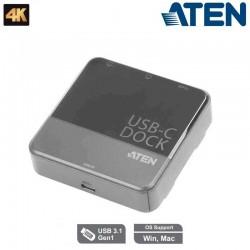Mini Dock Dual HDMI USB-C Aten UH3233