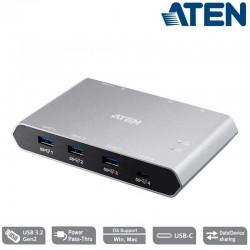 Aten US3342 - Conmutador de uso compartido USB-C Gen 2 de 2 puertos con pasarela de alimentación