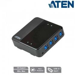 Aten US3344 - Conmutador USB 3.1 4 x 4 para compartir periféricos