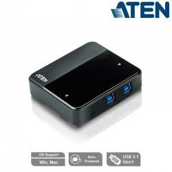 Aten US234 - Conmutador USB 3.0 (2 x 4) | Marlex Conexion