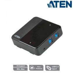 Aten US3324 - Conmutador USB 3.1 2 x 4 para compartir periféricos