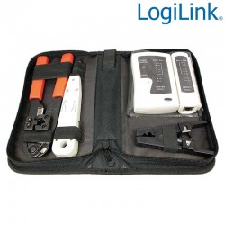 Kit Herramientas + Tester para instalacion redes Logilink WZ0012
