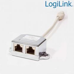 Logilink NP0044 - Duplicador RJ45 Datos, 1 Macho a 2 Hembras   Marlex Conexion