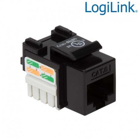 Logilink KJ08C6U - Conector Hembra RJ45 UTP Cat6 Keystone 90º , Punch Down | Marlex Conexion