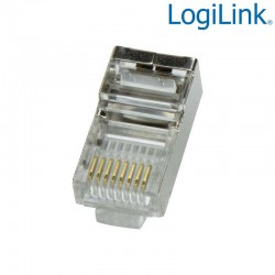 Logilink MP0003 - Conector RJ45 Macho FTP Cat5e (100 pcs) | Marlex Conexion