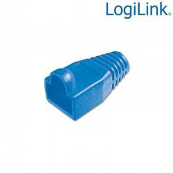 Logilink MP0008 - Funda Conector RJ45 Macho Azul (Bolsa 100 pcs)