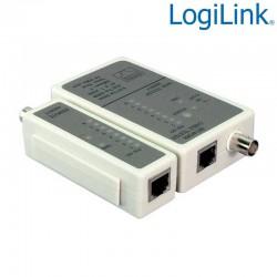 Tester para RJ11/RJ12/RJ45 & BNC, unidad remota Logilink WZ0011