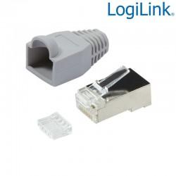 Logilink MP0021 - Conector RJ45 Macho FTP Cat6 ,Capuchón,Guia(100 pcs)