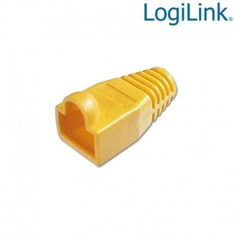 Logilink MP0009 - Funda Conector RJ45 Macho Amarillo (Bolsa 100 pcs)
