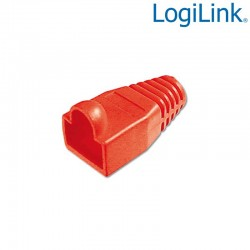 Logilink MP0010 - Funda Conector RJ45 Macho Rojo (Bolsa 100 pcs)