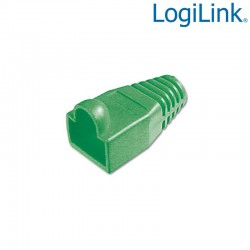 Logilink MP0007 - Funda Conector RJ45 Macho Verde (Bolsa 100 pcs)