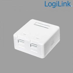 Caja Superficie para 2 conectores tipo Keystone Logilink NK4032