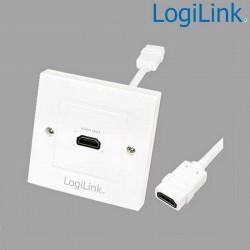 Placa de Pared de 1 conector HDMI Hembra (86 x 86) Logilink AH0014