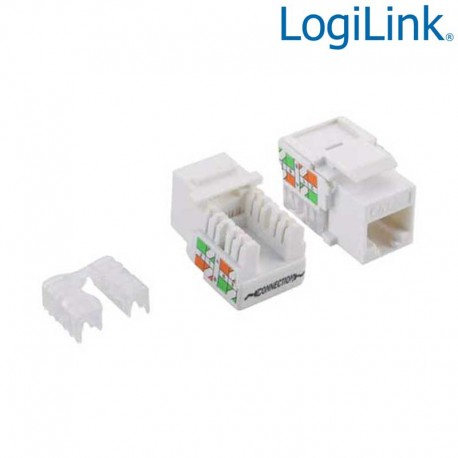 Logilink NK4006 - Conector Hembra RJ45 UTP Cat.5e Keystone 90º | Marlex Conexion