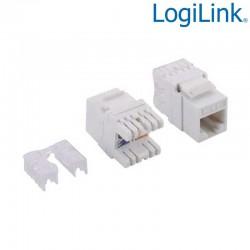 Logilink NK4005 - Conector Hembra RJ45 UTP Cat.6 Keystone 180º | Marlex Conexion