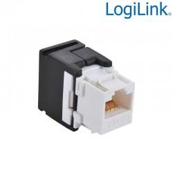 Logilink NK4007 - Conector Hembra RJ45 UTP Cat.6 Keystone 180º | Marlex Conexion