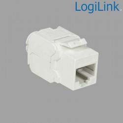 Logilink NK4004 - Conector Hembra RJ45 UTP Cat.6A Keystone 180º, Slim