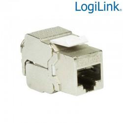 Conector Hembra RJ45 STP Cat.6A Keystone 180º, Standard Logilink NK4001